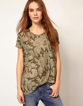 Image 1 ofVila Camo Slouch T-Shirt