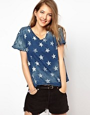Current/Elliot Star Print T-Shirt