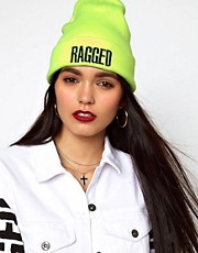 The Ragged Priest Neon Yellow Beanie