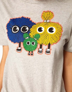 Image 3 ofHouse of Holland Pom Family T-Shirt