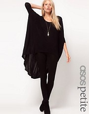 ASOS PETITE Exclusive Dip Back Top With 3/4 Sleeves