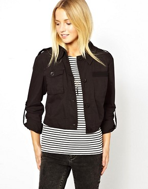 Image 1 ofASOS Cropped Utility Jacket