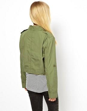Image 2 ofASOS Cropped Utility Jacket
