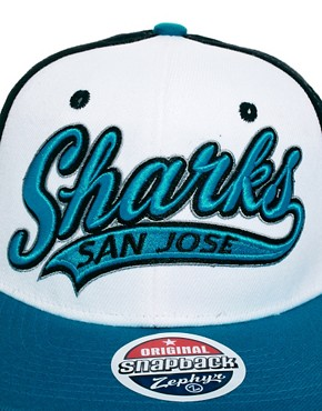 Image 3 ofZephyr Sharks Swoop 3 Tone Snapback Cap