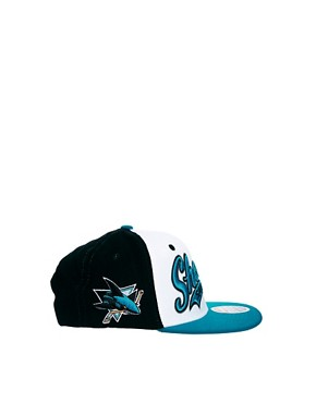 Image 4 ofZephyr Sharks Swoop 3 Tone Snapback Cap