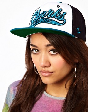 Image 1 ofZephyr Sharks Swoop 3 Tone Snapback Cap