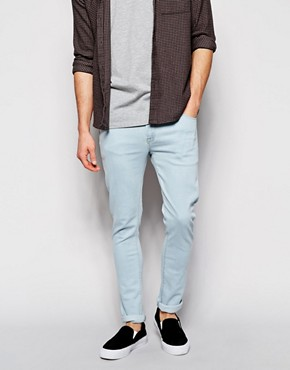 ASOS Super Skinny Jeans In Ice Wash
