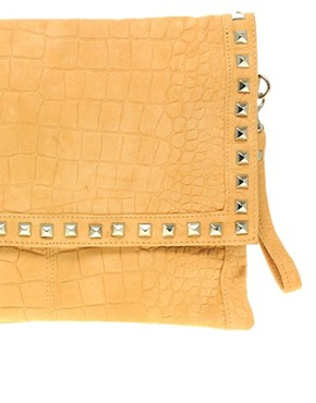 Image 3 ofASOS Suede Croc Stud Clutch