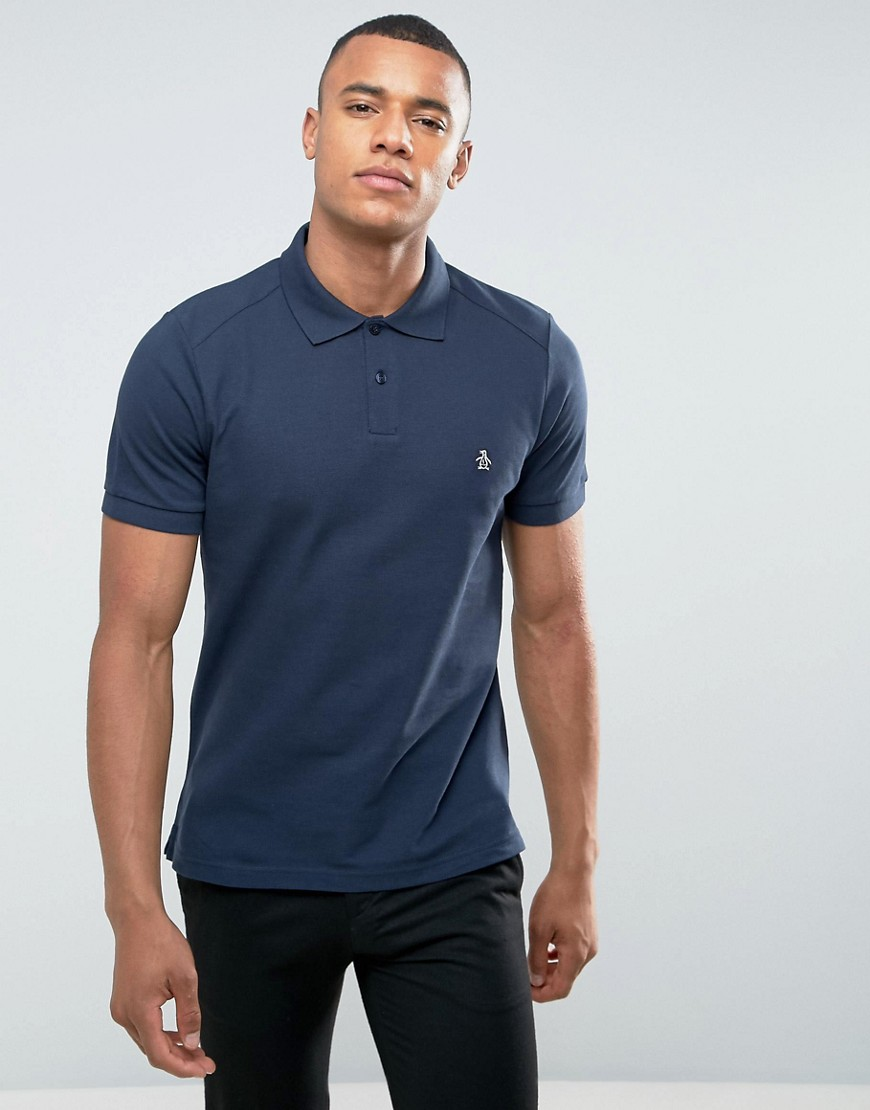Original Penguin Slim Fit Polo Shirt - Navy
