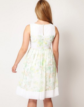 Image 2 ofASOS CURVE Premium Dress In Floral Print