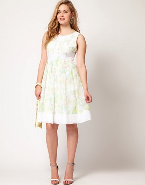 Image 4 ofASOS CURVE Premium Dress In Floral Print