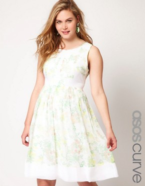 Image 1 ofASOS CURVE Premium Dress In Floral Print