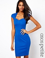 ASOS PETITE EXCLUSIVE Seamed Detail Sweetheart Bodycon Dress
