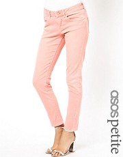 ASOS PETITE Elgin Supersoft Skinny Jeans In Washed Coral