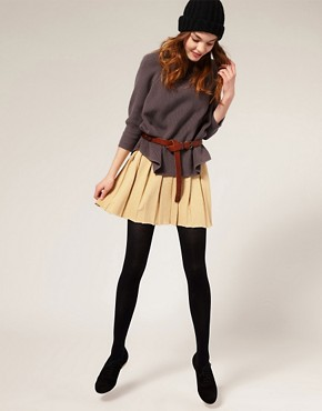 Image 1 ofASOS Knitted Pleated Skirt