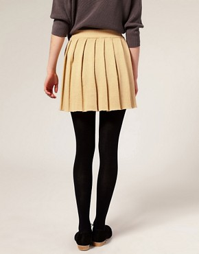 Image 2 ofASOS Knitted Pleated Skirt