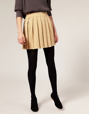 Image 4 ofASOS Knitted Pleated Skirt