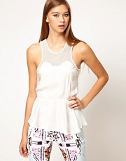 Alice McCall Tumbling Cami with Peplum Detail