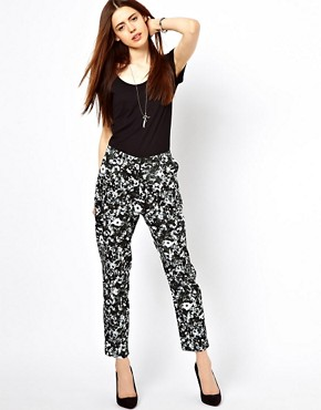 Image 1 ofJust Female Flower Printed Trousers