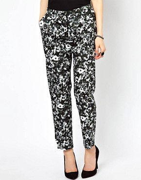 Image 4 ofJust Female Flower Printed Trousers