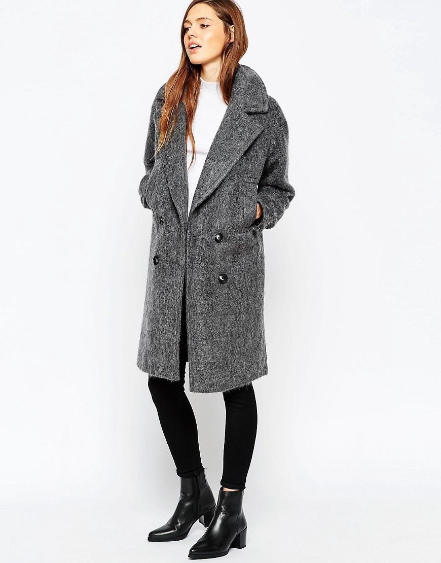 Image 1 of ASOS Pea Coat in Oversized Fit