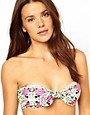 Image 1 ofPlayful Promises Floral Mirror Print Bunny Bow Bikini Top