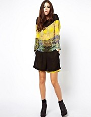 ASOS Africa  Shorts mit Blumenmuster und transparenter Lage