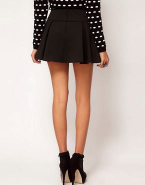 Image 2 ofASOS Structured Skater Skirt with Pleats