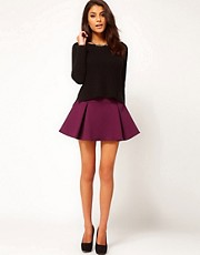ASOS Structured Skater Skirt with Pleats