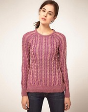 Textile Elizabeth and James Jumper Boat Neck Bacle Multi Yarn