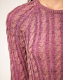 Image 3 of Textile Elizabeth and James Sweater Boat Neck Bacle Multi Yarn