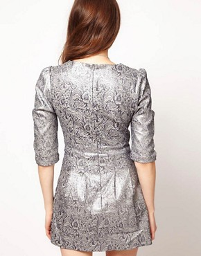 Image 2 ofLowie Metallic Paisley Shift Dress