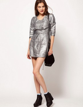 Image 4 ofLowie Metallic Paisley Shift Dress