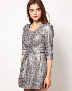Image 1 ofLowie Metallic Paisley Shift Dress