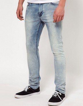 Image 1 ofASOS Super Skinny Jeans with Acid Wash