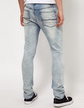 Image 2 ofASOS Super Skinny Jeans with Acid Wash