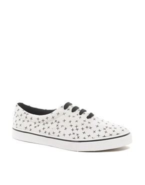 Image 1 ofASOS Plimsolls With Cross Print