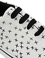 Image 2 ofASOS Plimsolls With Cross Print