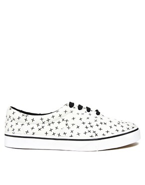 Image 4 ofASOS Plimsolls With Cross Print