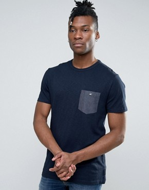 French Connection T-Shirt with Contrast Pocket
