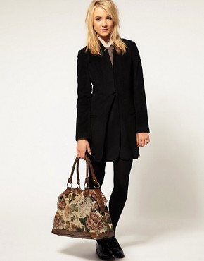 Image 3 ofASOS Tapestry Tuck Lock Holdall