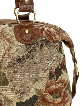 Image 4 ofASOS Tapestry Tuck Lock Holdall