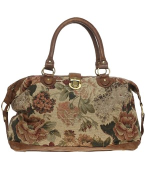 Image 1 ofASOS Tapestry Tuck Lock Holdall