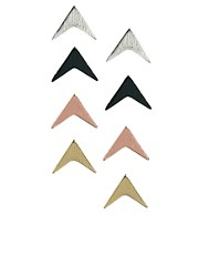 ASOS Arrow Stud Earrings Multipack