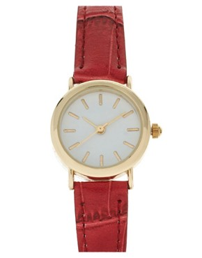 Image 1 ofASOS Vintage Look Round Dial Watch