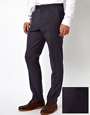 ASOS Slim Fit Suit Trousers in Stripe