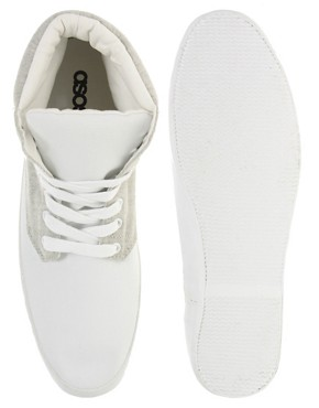 Image 3 ofASOS Contrast Hi-Top Trainers