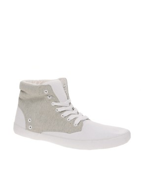 Image 1 ofASOS Contrast Hi-Top Trainers