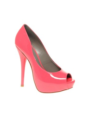 Image 2 ofKG Ettie Platform Peep Toe Court Shoes
