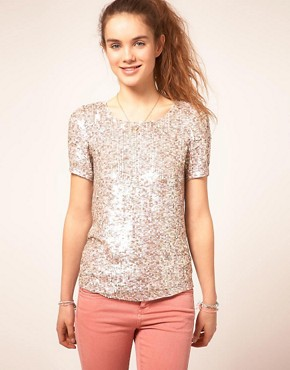 Image 1 ofA Wear Sequin T-Shirt